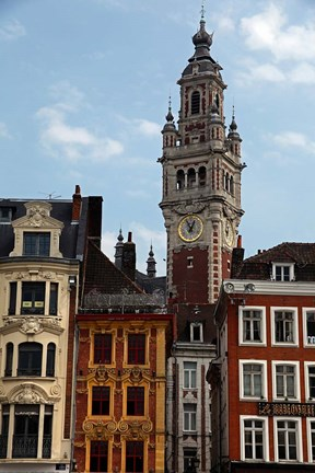 Framed Lille Architecture and Bell Tower Print