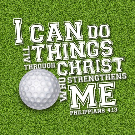 Framed I Can Do All Sports - Golf Print