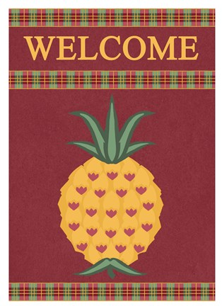 Framed Plaid Pineapple Banner Print