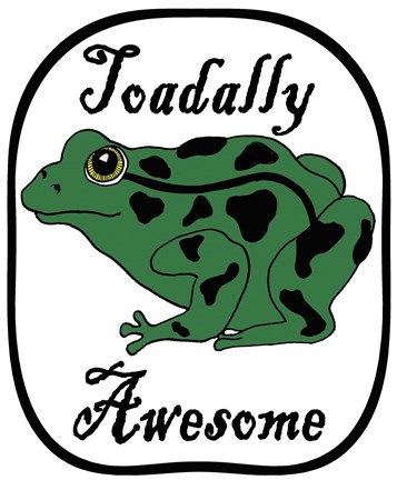 Framed Toadally Awesome Print