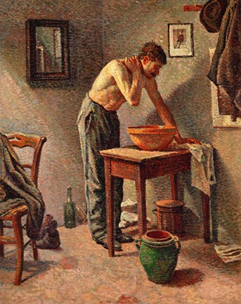 Framed Man Washing Himself, 1886 Print