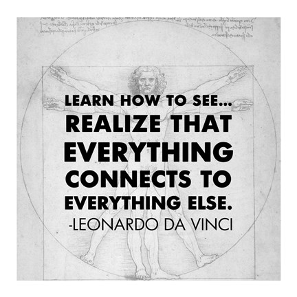 Framed Learn How to See -Da Vinci Quote Print