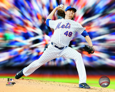 Framed Jacob deGrom Motion Blast Print