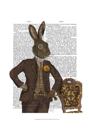 Framed Dapper Hare Print