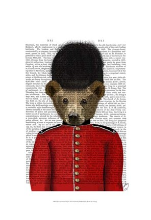 Framed Guardsman Bear Print