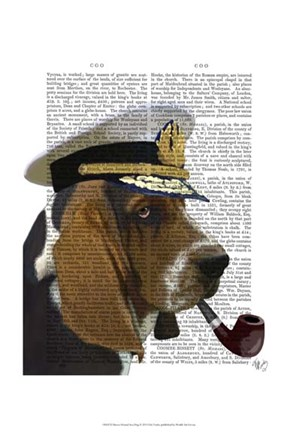 Framed Basset Hound Sea Dog I Print
