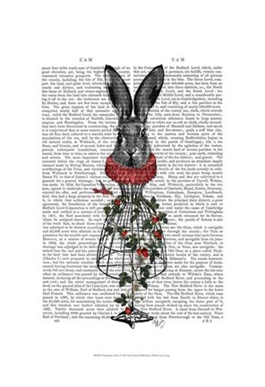 Framed Strawberry Hare Print