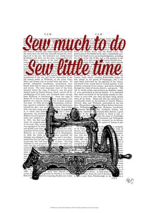 Framed Sew Little Time Illustration Print