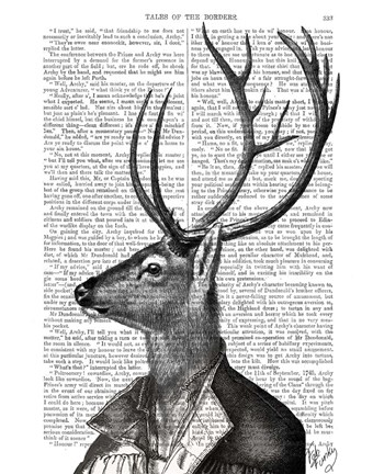 Framed Deer Portrait 2 Print