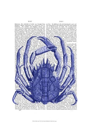 Framed Blue Crab Print