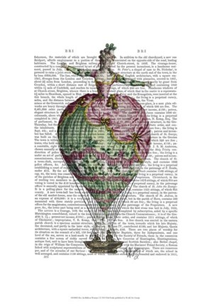 Framed Hot Air Balloon Woman 2 Print