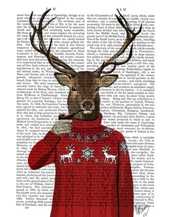 Framed Deer in Ski Sweater Print