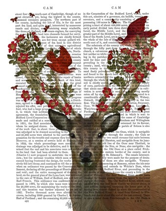 Framed Deer and Love Birds Print