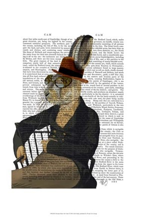 Framed Horatio Hare On Chair Print