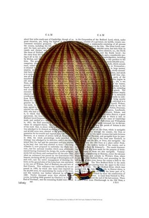 Framed Royal Nassau Balloon Hot Air Balloon Print