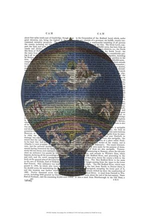 Framed Machine Aerostatique Hot Air Balloon Print