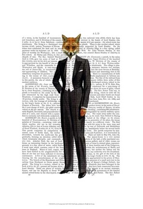 Framed Fox In Evening Suit Full Print
