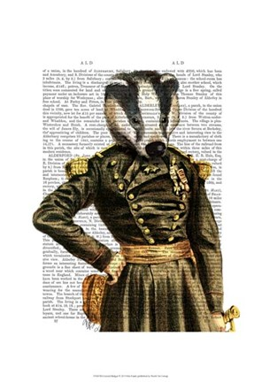 Framed General Badger Print