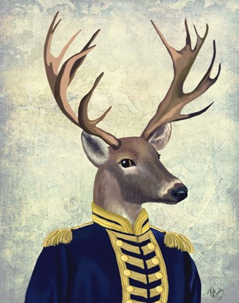 Framed Captain Deer Print
