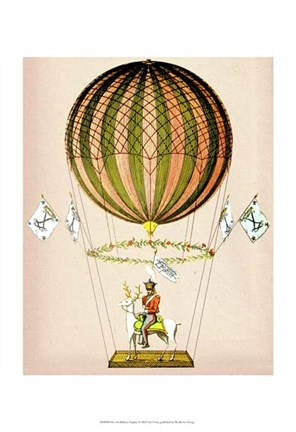 Framed Hot Air Balloon Zephire Print