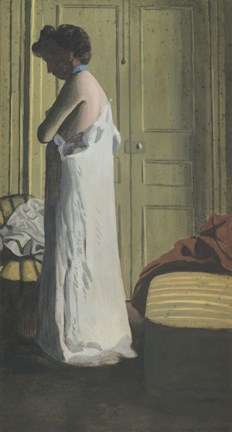 Framed Woman Removing her Chemise, c. 1900 Print