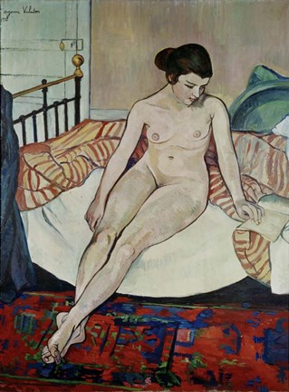 Framed Female Nude, 1922 Print