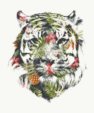 Framed Tropical Tiger Print
