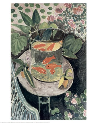 Framed Goldfish, 1912 Print