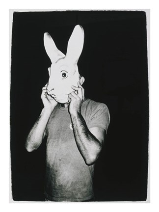 Framed Man with Rabbit Mask, c. 1979 Print
