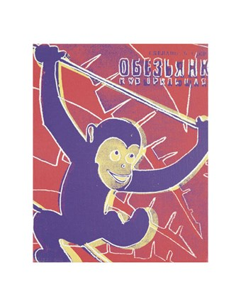 Framed Monkey, 1983 Print