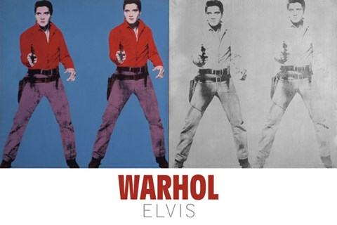 Framed Elvis I and II, 1964 Print