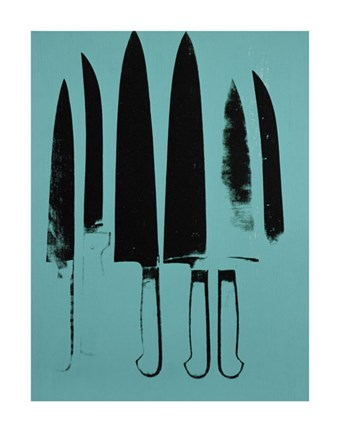 Framed Knives, c. 1981-82 (Aqua) Print