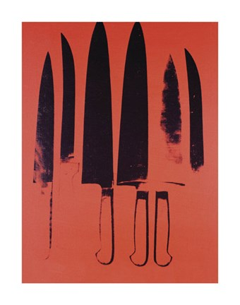 Framed Knives, c. 1981-82 (Red) Print
