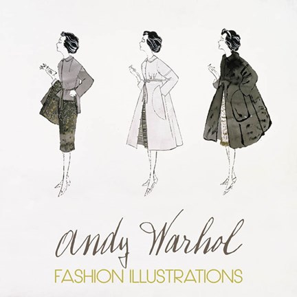 Framed Three Female Fashion Figures, c. 1959 Print