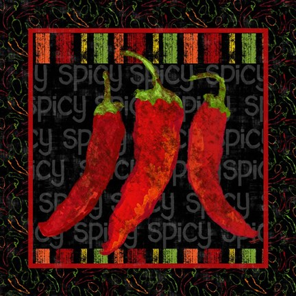 Framed Spicy Peppers II Print