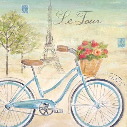 Framed Paris Bike Tour I Print