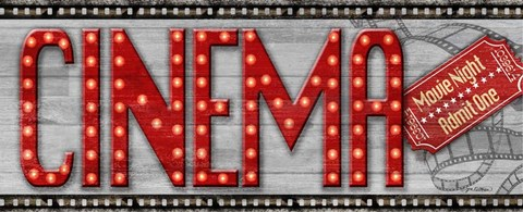 Framed Movie Marquee Panel I (Cinema) Print