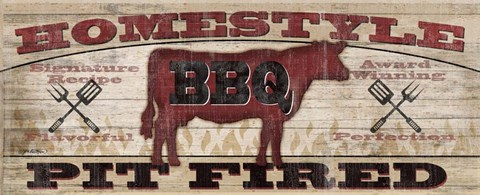 Framed Homestyle BBQ I (Cow) Print