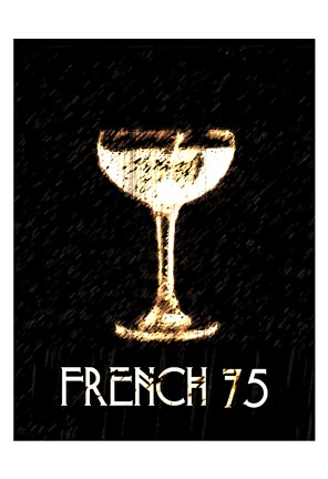 Framed Vintage French 75 Print