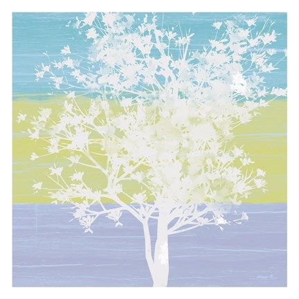 Framed Tranquil Tree 3 Print