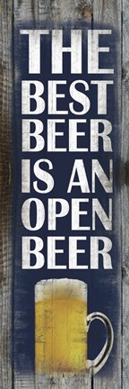 Framed Open Beer Print