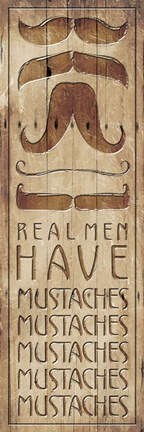 Framed Real Men Print