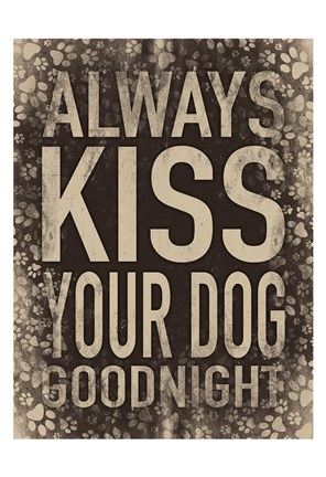 Framed Kiss Your Dog Print