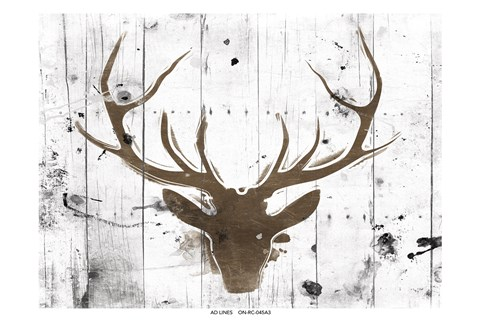 Framed Brown Deer Head Print