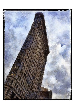Framed Flatiron NYC Painted Border Print