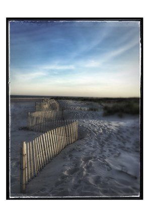 Framed Sand Fence With Border Print