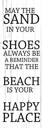Framed Sand In Your Shoes Print