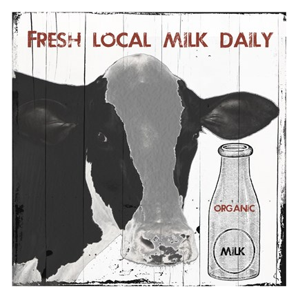 Framed Fresh Local Milk Print
