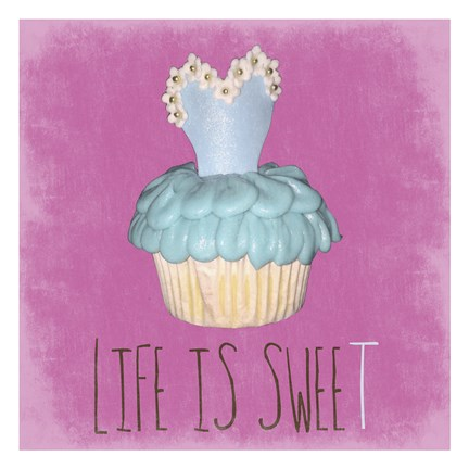 Framed Life Is Sweet Print