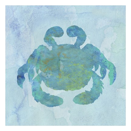 Framed Watercolor Crustacean Print